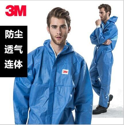 3M 4532 protective clothing, radiation-proof particles, chemical protective clothing, spray paint, dust-proof suit, blue clothing loves blue s
