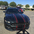 2015-2018 Auto Wrap Stickers voor Ford Mustang 2 kleur 10