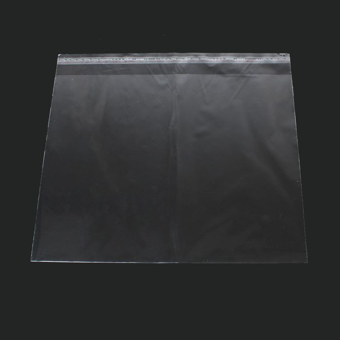 DoreenBeads Transparent Plastic Bags Self Adhesive Seal Rectangle 26cm X 24cm (Useable Space:26cm X 21cm),50 PCs