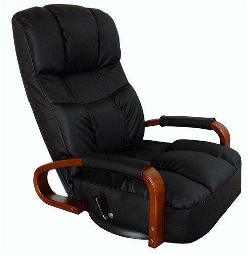 Home Furniture Floor Swivel Recliner Chair 360 Degree Rotation Living Room Furniture Modern Japanese Design Leather Armchair Chaise Lounge To Adopt Advanced Technology