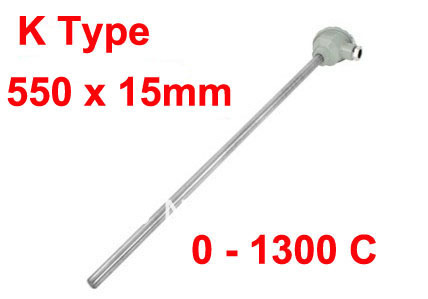 Custom Welcomed!!! K Type 0 to 1300 Celsius 550x15mm Probe Explosion Proof Thermocouple 1di400mp 120 welcomed the consultation