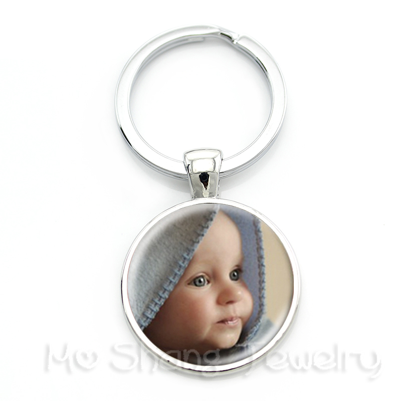 Personalized Custom Keychain Photo Mum Dad Baby Children Grandpa Parents Custom designed Photo Gift For Family Anniversary Gift my grandpa