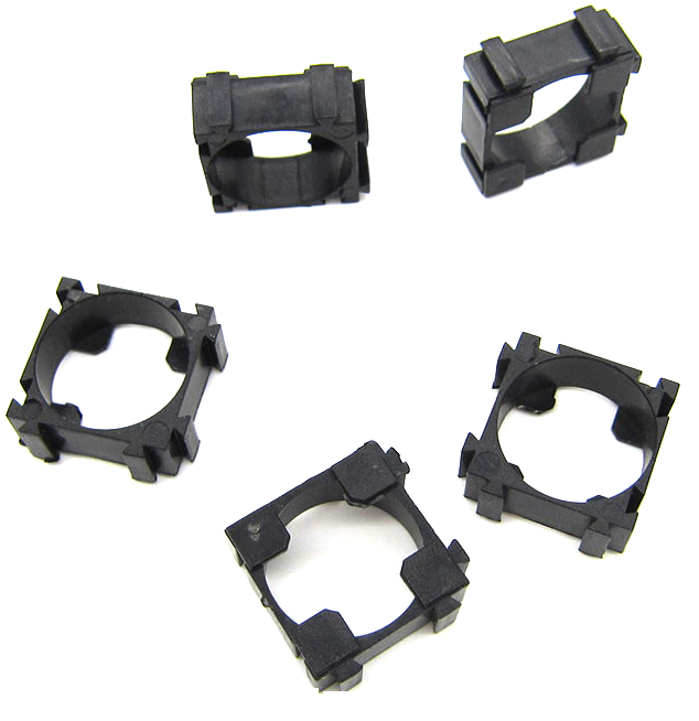 100pcs18650 Battery Cell Holder Safety Spacer Radiating Shell Storage Bracket Mayitr Suitable For 1x 18650 battery
