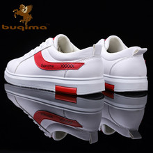 Buqima men's shoes white shoes student shoes social guy outdoor casual low shoes цена и фото