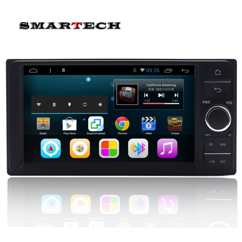 Android 6 0 For Toyota Universal 1024 600 font b Car b font Stereo Radio GPS