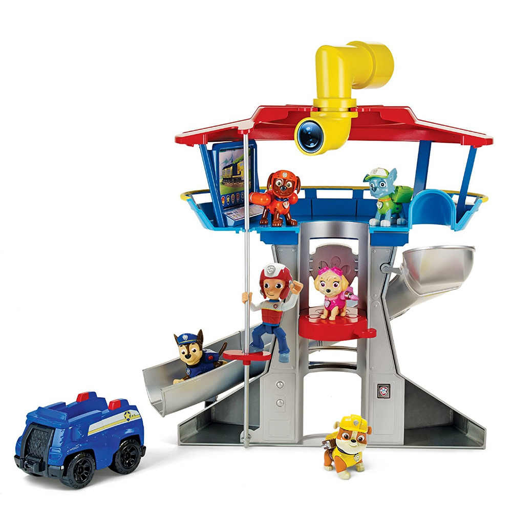 Original box! 2019 Hot Genuine Paw Patrol Lookout Playset Chase Action  Figure Vehicle Nickelodeon Kids New Anime canine toy