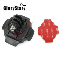 360 Motorcycle Helmet Rotary Adhesive Base Mounts for GoPro Hero5 3 4 Session SJ4000 Xiaomi Yi 4K Eken Action Camera Accessories(China)