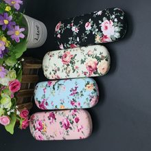 1pcs/lot Women Floral Glasses Box Cotton Cloth Cool Minimalist Creative Embroidery Handmade High Glasses box(China)