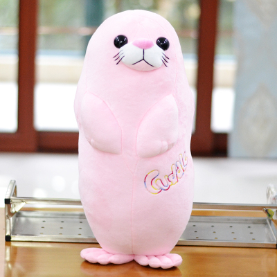 big pink plush high quality seal toy cute seal pillow doll about 75cm middle lovely plush high quality seal toy cute white seal doll gift about 35cm