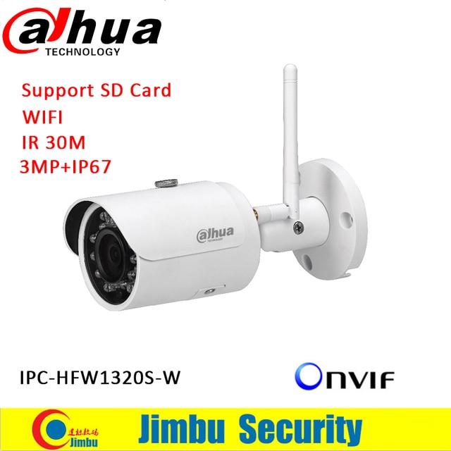 Dahua clean stock price DH-IPC-HFW1320S-W IP network camera wifi 3mp wifi camera p2p IP Camera HFW1320S-W free shipping