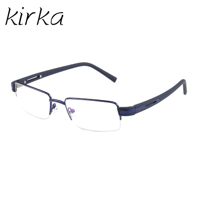 6b112df88d5 Kirka Blue color Simple Type Men Computer Eyewear Spectacle Frame For Male  Transparent Lens Metal Optical Eyeglasses Frame