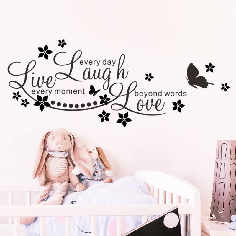 Live Laugh Love Quotes Englisch Sagen PVC Wandaufkleber Wohnzimmer Schlafzimmer Zitate Wandtattoos Dekoration