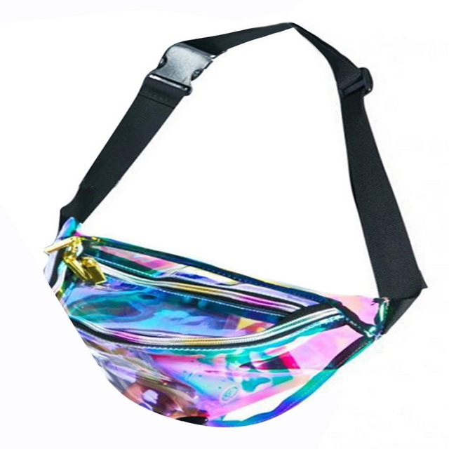 Litthing 2018 Fashion New Men Laser Waist Bag Leather Belt Waterproof Bag Phone Women Thighbags Fanny Pack Holographic Leg Bags