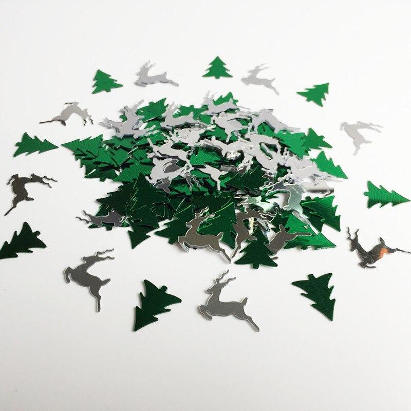 1500 Stks Kerst Herten Sequin Boom Confetti Scrapbooking Tafel Scatters Sparkle Wedding Partyware Decoratieve Xmas Decoratie