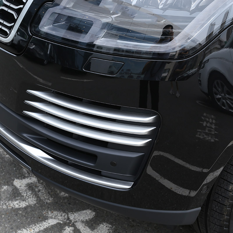 For Land rover Range Rover Vogue 2018 Car ABS Chrome Front Fog Light Grille Cover Trim Accessories for land rover range rover evoque 2012 2016 car interior front dashboard edge cover frame trim abs chrome sticker accessories
