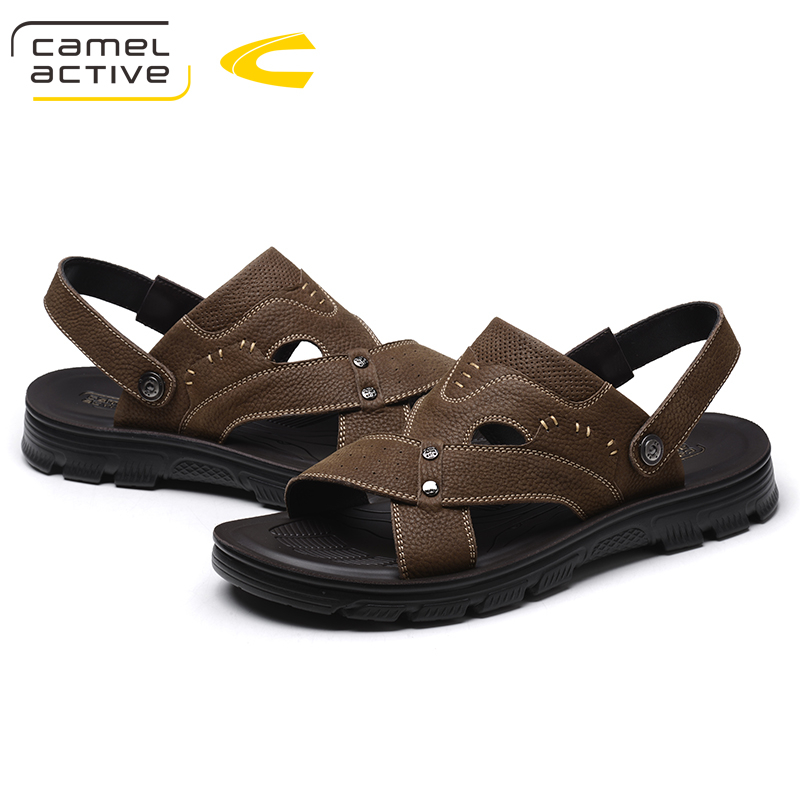 Camel Active New Summer Sandalias Genuine Leather Walking Water Classic Male Sandals For Men Shoes Adult Casual Beach Breathable