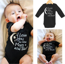 Toddler Baby Boys Rompers Summer Infant Black Clothes short sleeve Cotton One-pieces 0~24M