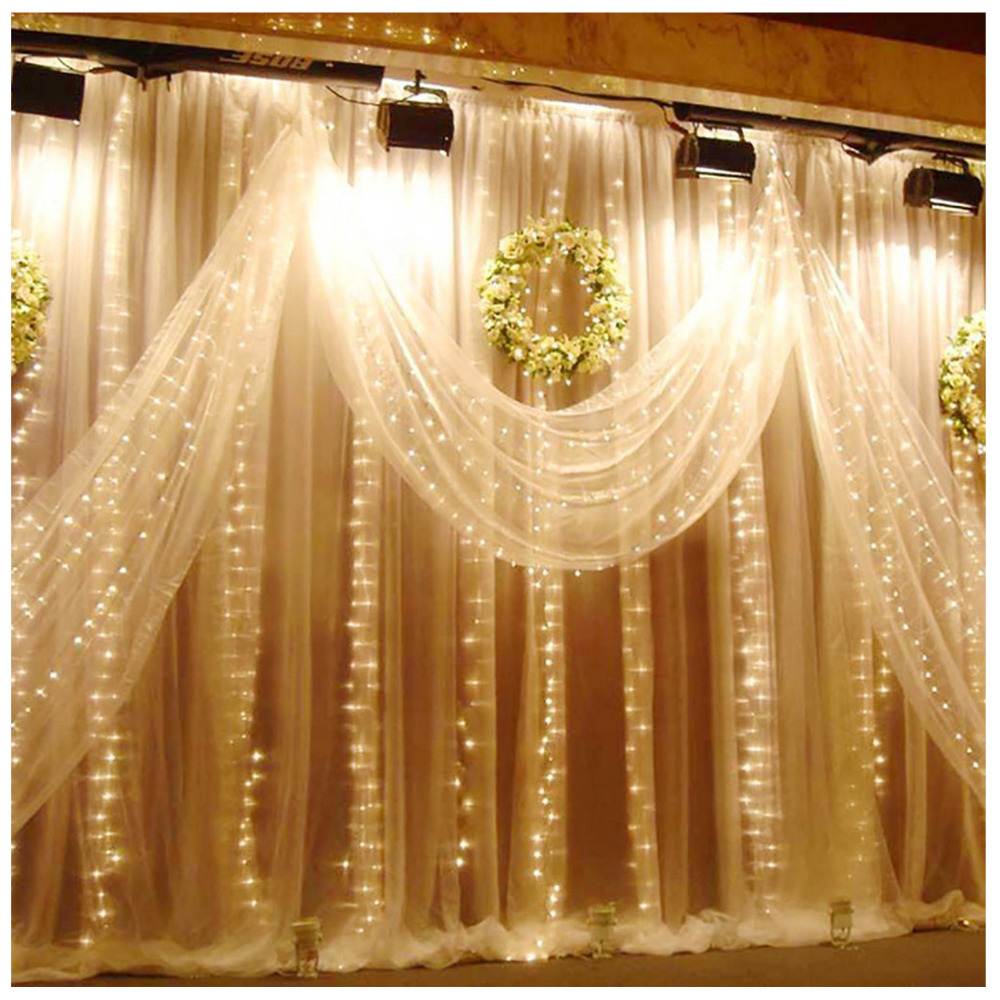 Waterproof 6M x 3M 600 LED Wedding Light icicle Christmas Light ...