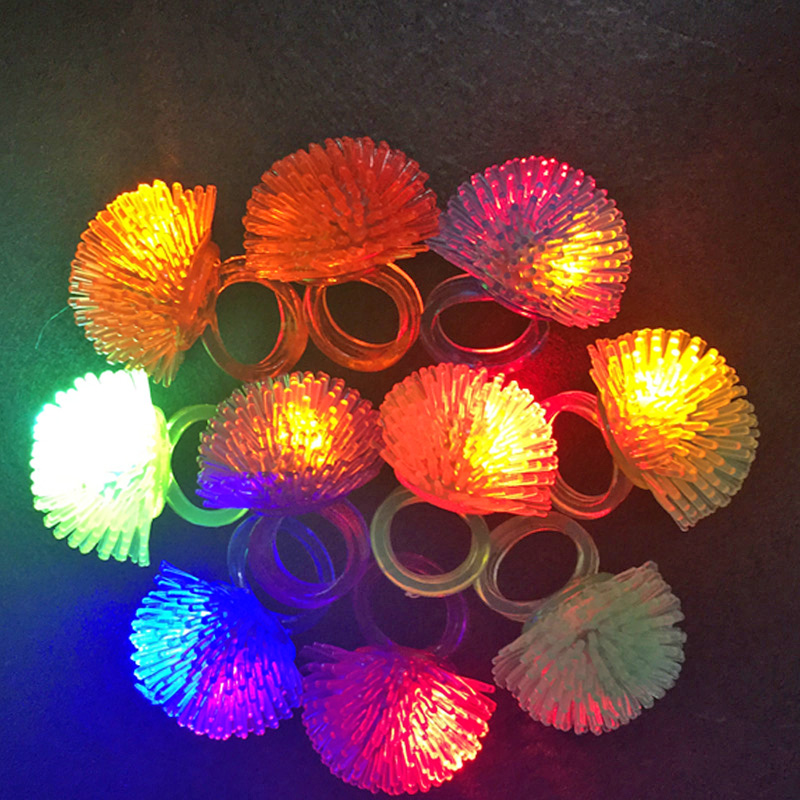 30pcs/lot led toys for party luminous glow ring gift christmas toys strawberry soft light up toy for kids glow in the dark
