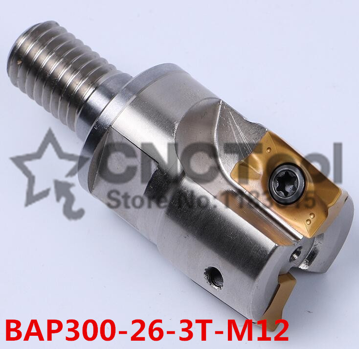 BAP300-26-3T-M12 modular type Precison Small milling cutter Cutting End Mills for APMT1135 carbide inserts,the Thread is M12BAP300-26-3T-M12 modular type Precison Small milling cutter Cutting End Mills for APMT1135 carbide inserts,the Thread is M12
