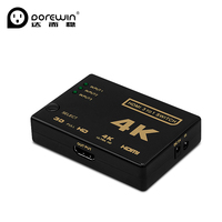 Dorewin 3 Port HDMI Switch Switcher 1080P 4K 2K 3D 3 Input To 1 Output HDMI