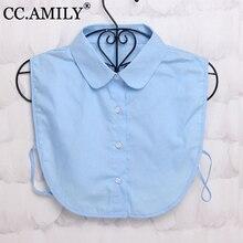CC.AMILY Ladies Women Adult Detachable Lapel Shirt Fake Collar Fashion Solid Color False Blouse Neckwear Clothing Accessories