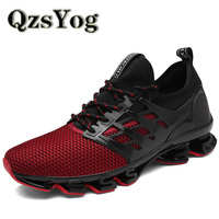QzsYog Breathable Runing Shoes For Men Sports Sneakers Mesh Walking Jogging Shoes Athletic Unique Trend Outdoor