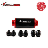 FREE SHIPPING Ryanstar Racing Ready Inline Aluminum Fuel Filters AN6/AN8/AN10 Oil Filter Adapter Fittings with 60 Micron Element