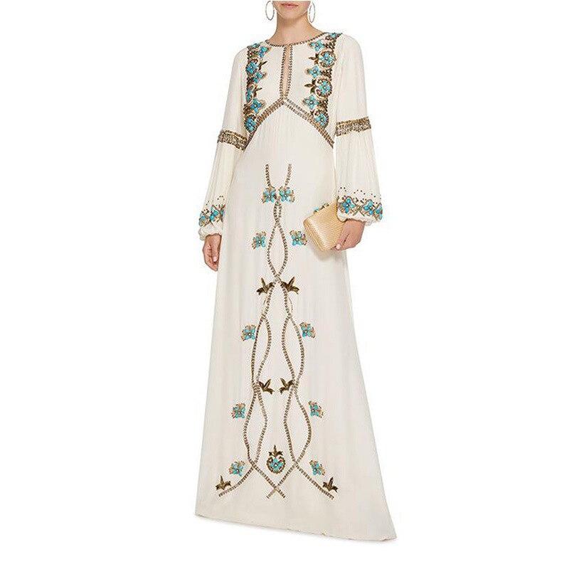 c47022f2672a5 Taille Sorties Élégant Coréenne Long Robes Pour Femmes D'été Grande ...