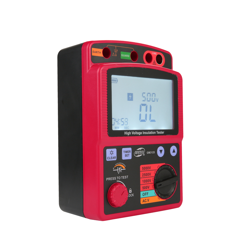 Image 2 - LCD High Voltage Insulation Tester Portable Digital Insulation Resistance Meter 600V DC/AC Voltage Tester Auto Discharge GM3125tester electricitytester peugeottester paper -