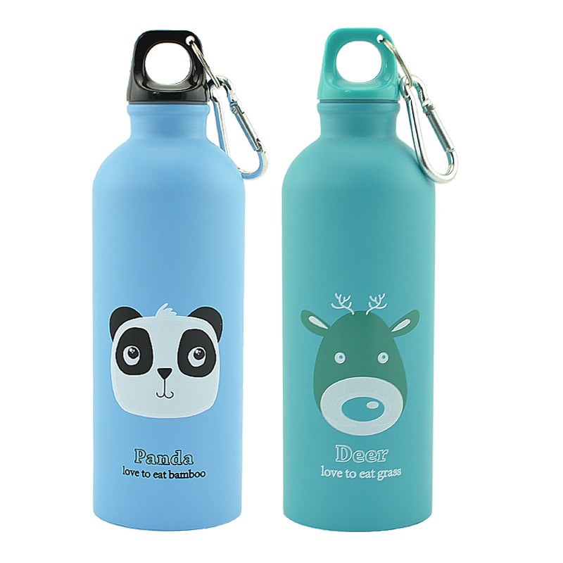 New 500ml Outdoor Portable Stainless Steel Bottle Cute Animals Outdoor Sports Cycling Camping Bicycle School Kids Water Bottle|Water Bottles|   - AliExpress