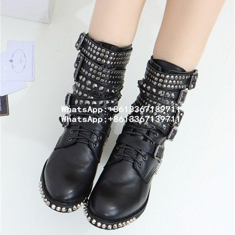 5aeaf24db46 Online Get Cheap Studded Combat Boots Women -Aliexpress.com .