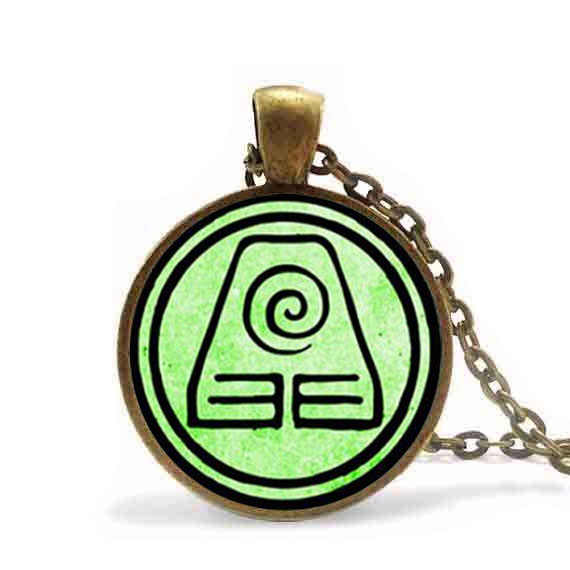 Steampunk Avatar The Last Airbender Pendant Necklace Vintage Earth Kingdom jewelry friends Gift Womens Mens Girl Chain cosplay