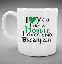 El señor de los anillos de la Taza (2 lados de impresión) te quiero como un hobbit ama segundo desayuno, LOTR hobbit taza de café tazas de Té Taza