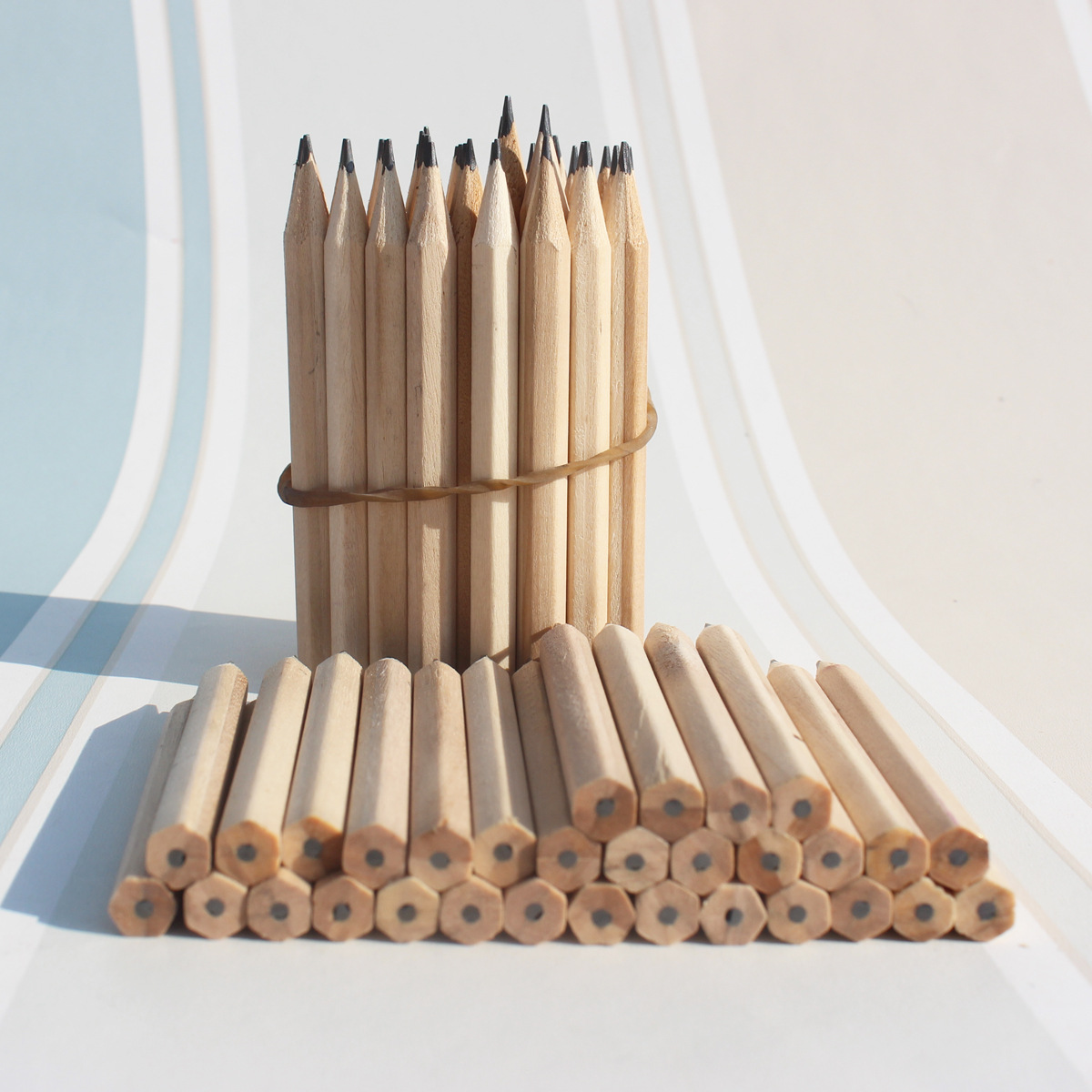 3.5inch 100pcs/Lot  HB Wood Pencil, Students Sketch Pencil Stationery School Items Supply Eco-friendly Facotry Wholesales