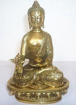 Tibet Tibetan Buddhism Bronze Medicine Buddha Statue