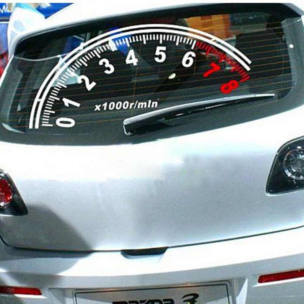 Odometer car sticker tachometer sticker rear windshield reflective sticker