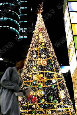 the hotel opened in the mall christmas decorations decorative wrought iron frame modeling large christmas tree