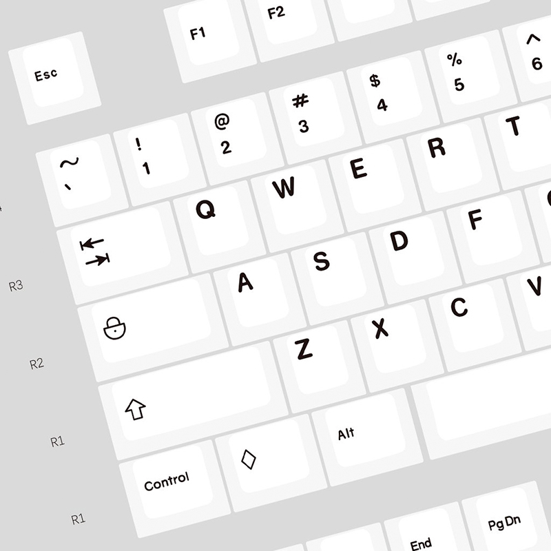 [GB]Enjoypbt Black on White with Icon Mods 159Keys mac keys for cherry mx mechanical keyboard keycaps