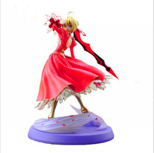 Fate stay night fate extra red saber pvc figure toy anime collection new