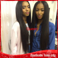 Hot 150% Density Brazilian Full Lace Wig With Baby Hair Cheap Natural Black Silky Straight Long Lace Front Wigs For Black Women
