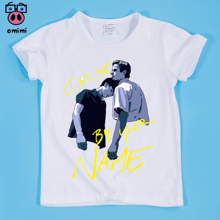 Ready Stock,Children Call Me By Your Name Moive Funny Style Soft White T-Shirts Boy and Girl Soft Tee Shirt Baby Movie Tops