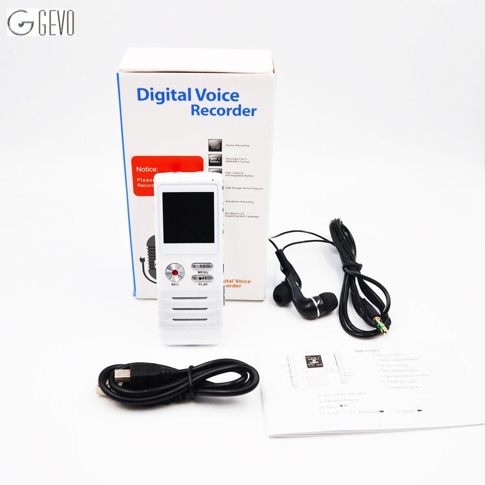 8 GB LCD duální jádro profesionální digitální diktafon mini dobíjecí diktafon nahrávací pero rekordér s MP3 přehrávačem u disk  t