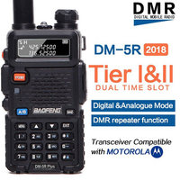 2019 Baofeng DM 5R plus Digital Walkie Talkie Tier I Tier II Tier 2 DMR digital&analog Two way radio Dual Band Repeater dm5r