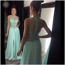 2016 vestidos de baile Kristall Lange Abschlussball-abendkleider Geraffte Chiffon Schnelles verschiffen Formale Partei-kleid vestidos de formatura