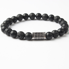 Lingxiang 2018 new geometric beads male bracelet simple classic stone lady jewelry gift