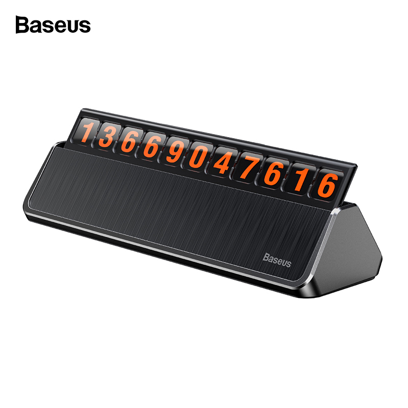 Baseus <font><b>Car</b></font> Temporary Parking Card Sticker <font><b>Car</b></font> Interior <font><b>Accessories</b></font> 3D <font><b>Mobile</b></font> Hidden <font><b>Phone</b></font> Number Notification Plate <font><b>Phone</b></font> Holder image