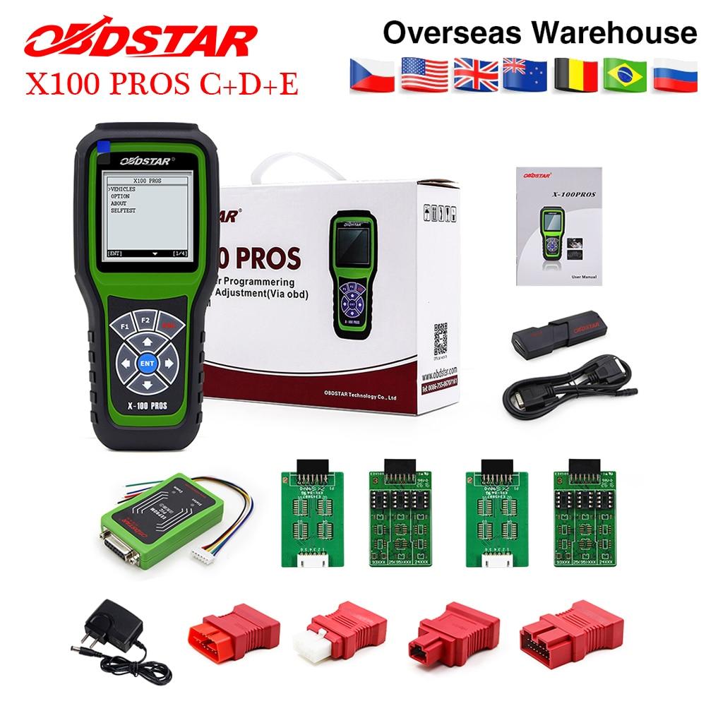 OBDSTAR X100 pros C D E model Auto Key Programmer X 100 pro x100pro immobilizer programming