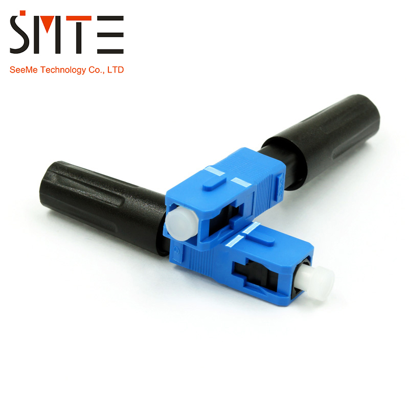 100pcs/lot SC/UPC ZF SM Fast Connector Multimode 55mm SC-ZF Optical Fiber Connector SC/ZF APCNPFG 8802-TLC/3 XF-5000-0322-3