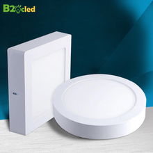 B2OCLED LED Panel Lights 110V 220V 6W 12W 18W 24W Square Round Surface Mounted Downlight Ceiling Lamp led lights Driver Indoor 1pc black surface mounted led panel light bulb 6w 9w 12w 18w 24w round square led ceiling lamp lights led downlight ac110v 220v